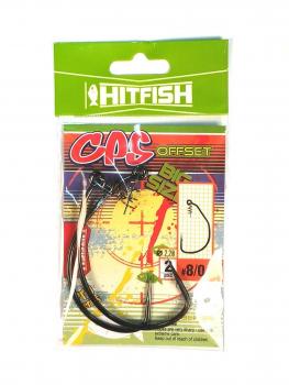 Крючок офсетный с креплением HITFISH CPS Offset № 10/0 (2 шт.)