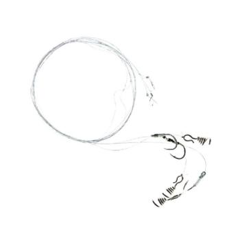 Поводок жерличный ZETTECH 100% Fluoro (5 шт.) (щука, тройник № 2, дл. 40 см, нагр. 12 кг ) в интернет магазине Rybaki.ru