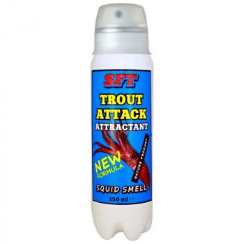 Аттрактант-спрей SFT Trout Attack с запахом кальмара в интернет магазине Rybaki.ru