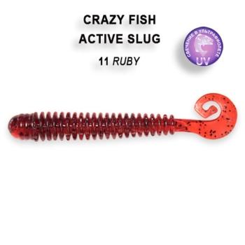 """Слаг CRAZY FISH Active Slug 2,8"""" (8 шт.) зап. чеснок, код цв. 11"""