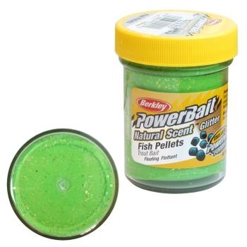 Паста BERKLEY PowerBait Natural Scent Glitter TroutBait аттр. Пелец цв. Весенний зеленый в интернет магазине Rybaki.ru