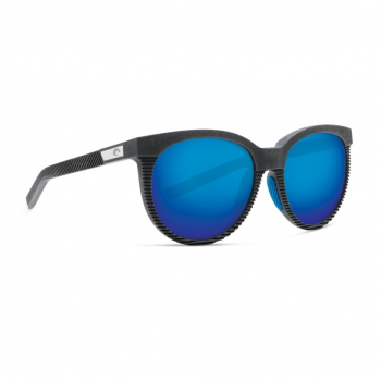 Очки поляризационные COSTA DEL MAR Victoria 580G р. S цв. Net Gray w/Blue Rubber цв. ст. Blue Mirror