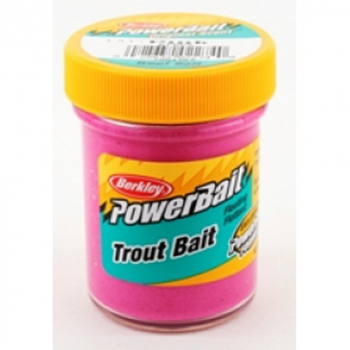Паста форелевая BERKLEY PowerBait Biodegradable TroutBait цв. розовый в интернет магазине Rybaki.ru