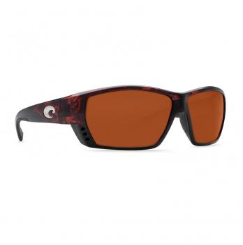 Очки поляризационные COSTA DEL MAR Tuna Alley 580G р. L Global Fit цв. Tortoise цв. ст. Copper Silver Mirror
