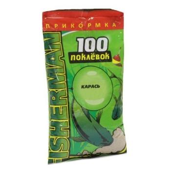 Прикормка SUPER CARP 100 Поклевок Карась 0,9 кг в интернет магазине Rybaki.ru