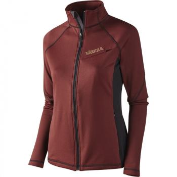 Толстовка HARKILA Vestmar Hybrid Lady Fleece Jacket цвет Syrah red melange