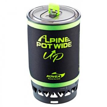 Система приготовления пищи KOVEA Alpine Pot Wide (535 гр, пьезоподжиг, 1,5 л) в интернет магазине Rybaki.ru