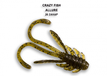 "Креатура CRAZY FISH Allure 1,6"" (8 шт.) зап. кальмар, код цв. 26"