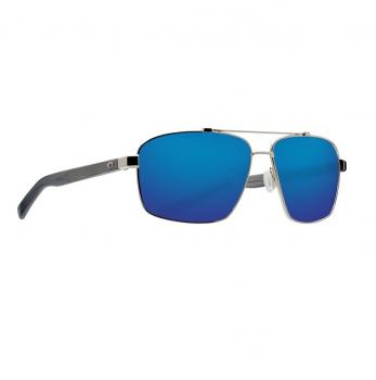 Очки поляризационные COSTA DEL MAR Flagler 580P р. L цв. Shiny Silver цв. ст. Blue Mirror