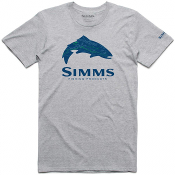 Футболка SIMMS Fire Hole Trout T-Shirt цвет Grey Heather