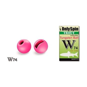 Головка вольфрамовая ONLY SPIN Trout Tungsten Ball 2,4 мм цв. Розовый (5 шт.)