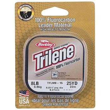 Леска BERKLEY Trilene 100% Fluorocarbon 22 м 0,15 мм цв. Clear в интернет магазине Rybaki.ru