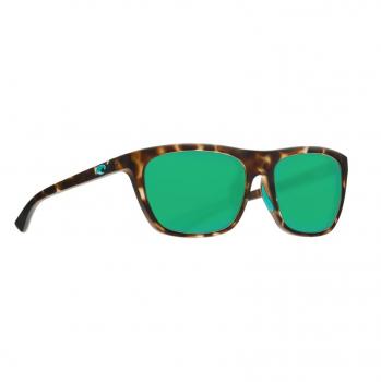 Очки поляризационные COSTA DEL MAR Cheeca 580P р. S цв. Matte Shadow Tortoise цв. ст. Green Mirror
