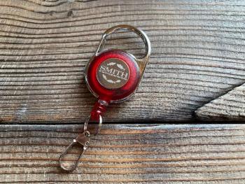 Ретривер SMITH Carabiner Reel цв. Красный