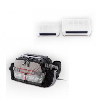 Комплект MEIHO Сумка Versus VS-B6070 цв. черный / серый с коробками Versus VS-3010NDM, Versus VS-3020NDDM в интернет магазине Rybaki.ru