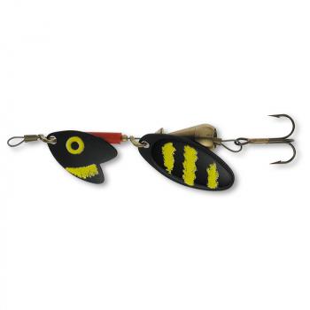 Блесна вращающаяся MEPPS Trout Tandem № 1 цв. Black / Yellow