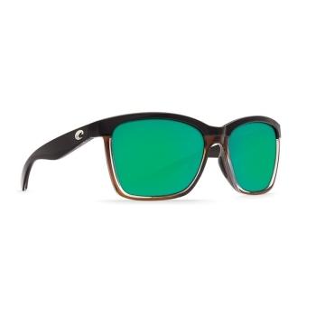Очки поляризационные COSTA DEL MAR Anaa W580 р. M цв. Shiny Black on Brown цв. ст. Green Mirror Glass