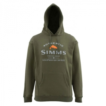 Толстовка SIMMS Badge of Authenticity Hoody цвет Olive