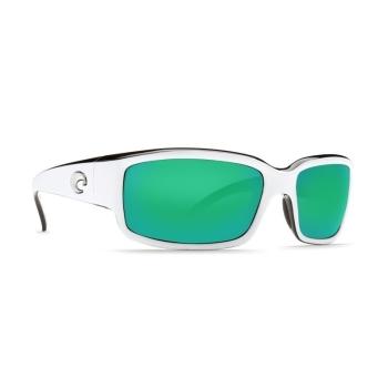 Очки поляризационные COSTA DEL MAR Caballito W580 р. M цв. White/Black цв. ст. Green Mirror Glass