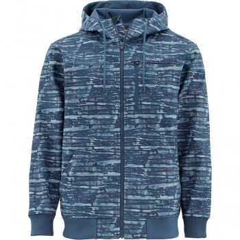 Куртка SIMMS Rogue Fleece Hoody цвет Water Print Dusk