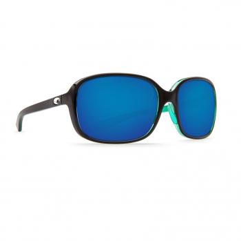 Очки поляризационные COSTA DEL MAR Riverton 580P р. S цв. Shiny Black Kiwi цв. ст. Blue Mirror