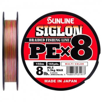 Плетенка SUNLINE Siglon PEx8 150 м цв. многоцветный 0,171 мм в интернет магазине Rybaki.ru