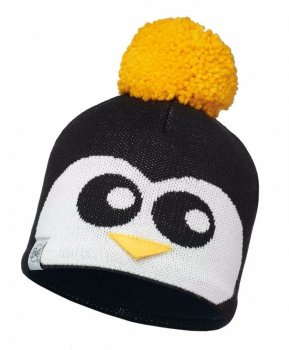 Шапка BUFF Child Knitted & Polar Hat Penguin цв. Black-Black-Standard/Od в интернет магазине Rybaki.ru