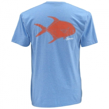 Футболка SIMMS Tightlines Permit Ss T-Shirt цвет Lt. Blue Heather