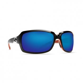 Очки поляризационные COSTA DEL MAR Isabela W580 р. L цв. Black/Coral цв. ст. Blue Mirror Glass