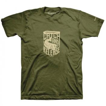Футболка SIMMS Catch & Release T-Shirt цвет Military