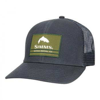 Кепка SIMMS Original Patch Trucker цв. Carbon р.