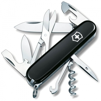 Нож VICTORINOX Climber р. 91 мм, 14 функций, цв. черный, карт. коробка