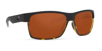 Очки поляризационные COSTA DEL MAR Half Moon 580P р. L цв. Matte Black/ Shiny Tortoise цв. ст. Copper
