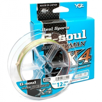 Плетенка YGK Real Sports G-Soul Super Jigman X4 200 м # 0,8 в интернет магазине Rybaki.ru