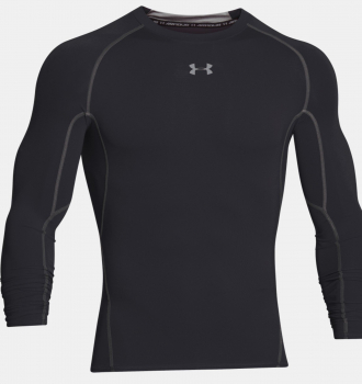 Футболка UNDER ARMOUR HeatGear Armour LS цвет Black / Steel