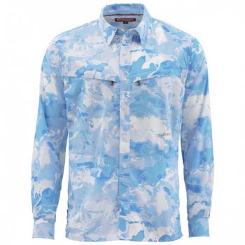 Рубашка SIMMS Intruder BiComp LS Shirt цвет Cloud Camo Blue