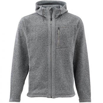 Куртка SIMMS Rivershed Full Zip Hoody цвет smoke в интернет магазине Rybaki.ru