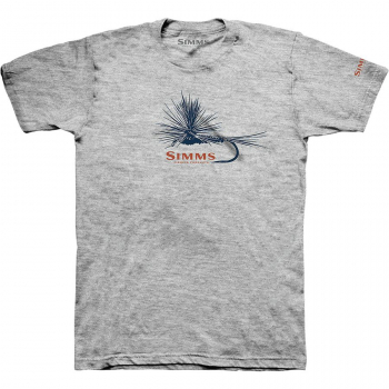 Футболка SIMMS Adams Fly T-Shirt цвет Grey Heather