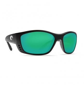 Очки поляризационные COSTA DEL MAR Fisch W580 р. XL цв. Matte Black Global Fit цв. ст. Green Mirror Glass