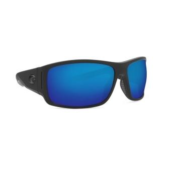 Очки COSTA DEL MAR Cape 580 P р. XL цв. Matte Black Ultra цв. ст. Blue Mirror