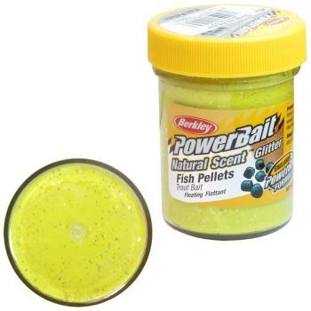 Паста BERKLEY PowerBait Natural Scent Glitter TroutBait аттр. Пелец цв. Солнечный желтый в интернет магазине Rybaki.ru