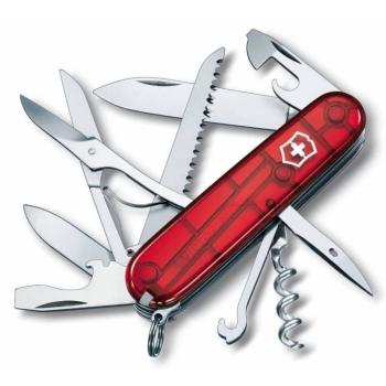 Нож VICTORINOX Huntsman красный полупрозрачный 15 функций 91 мм карт.коробка