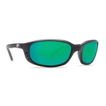 Очки поляризационные COSTA DEL MAR Brine 580P р. L цв. Matte Black цв. ст. Green Mirror