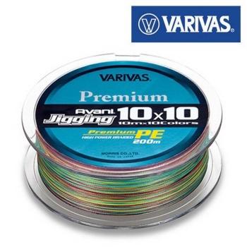 Плетенка VARIVAS Avani Jigging 10x10 PE4 #0,8 200 м в интернет магазине Rybaki.ru