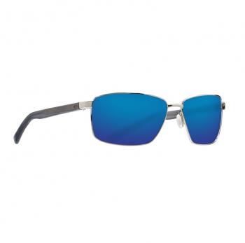 Очки поляризационные COSTA DEL MAR Ponce 580G р. L цв. Shiny Silver цв. ст. Blue Mirror