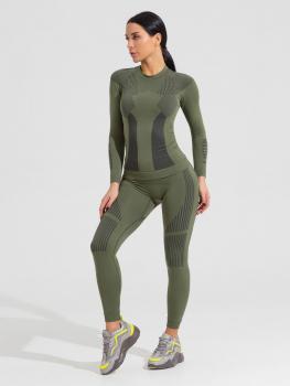 Комплект термобелья V-MOTION F10 женский цвет зеленый