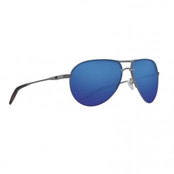 Очки поляризационные COSTA DEL MAR Helo 580P р. L цв. Matte Silver + Translucent Gray/Orange цв. ст. Blue Mirror