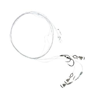 Поводок форелевый жерличный ZETTECH с пружиной, 100% Fluoro (3 шт.) (к № 8, дл. 40 см) в интернет магазине Rybaki.ru