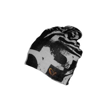 Шапка SAVAGE GEAR Printed Beanie цв. Черный / серый
