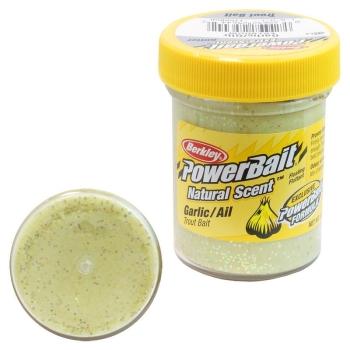 Паста BERKLEY Powerbait Natural Scent Glitter Troutbait 50 г аттр. чеснок цв. жёлтый в интернет магазине Rybaki.ru